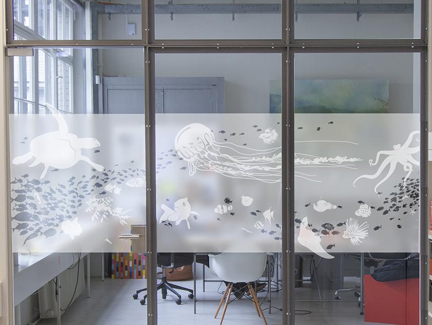 Sichtschutz Glasdekoration Milchglasfolie